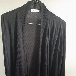 Black Calvin Klein XS Cardigan Silk/Rayon